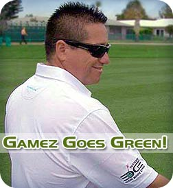 PGA Tour professional Robert Gamez goes green, with a new Greenskeeper Golf Outdoor Putting Green using Putters Edge PAR Turf... and loves it!